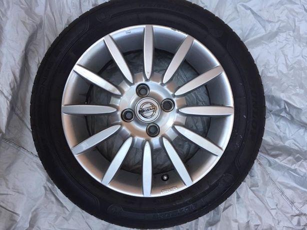Nissan oryginalne felgi aluminiowe 15 cali i opony letnie