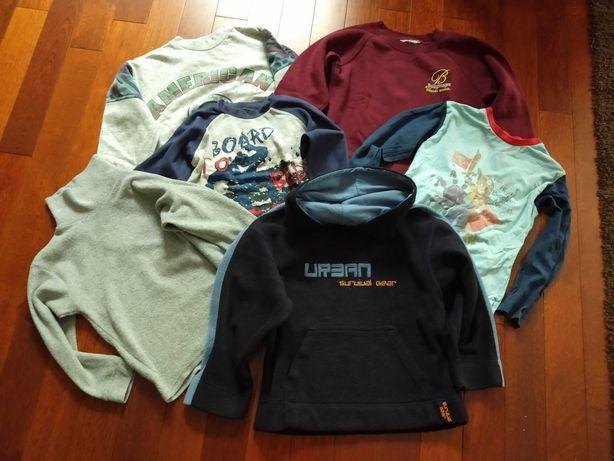 Zestaw: Bluza polar bluzka golf bluzki 6-8 lat paczka