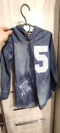 Платье джинсовое, туника. Туніка джинсове плаття на 3 роки