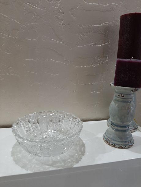 Хрустальная ваза, ручная резьба, богемия. ГДР