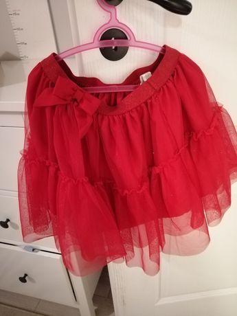 Spódnica tiulowa  h&m 128 czerwona