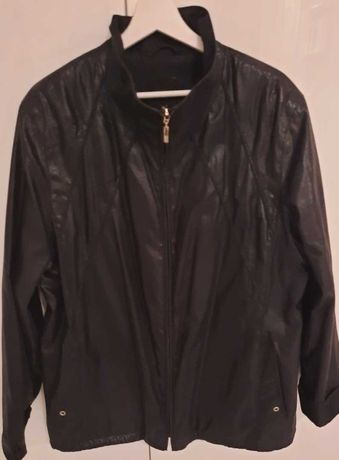 Czarna wiosenna damska kurtka rozmiar 46