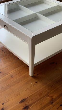 Stolik kawowy IKEA Liatorp biały 93x93