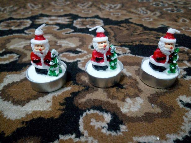 Продам новогодние свечи с дедом морозом
