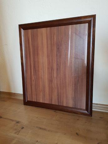 Rama drewniana, sosnowa, ramka, szkło 50x60 cm, brązowa