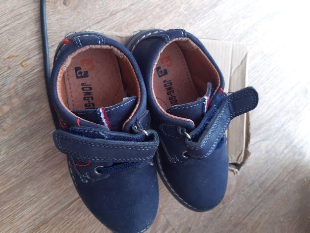 Кожаные туфли на мальчика 26р
