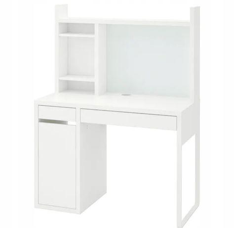 Biurko z nadstawką białe matowe