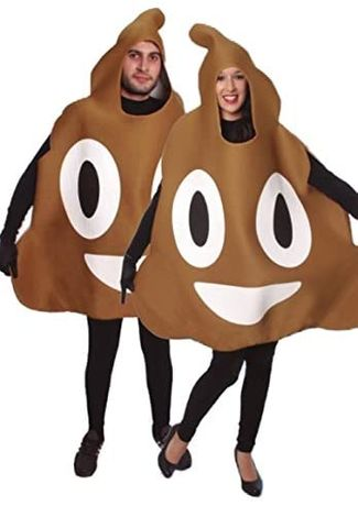 Emoji Emotikon kostium strój kupa gówno