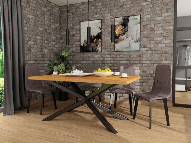 Stół LOFT industrial stal i drewno dębowe dostawa gratis!
