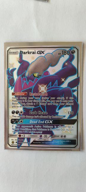 Shiny Darkrai GX Full art rare Karta Pokemon Hidden fates