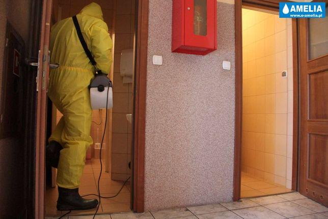 dezynfekcja odkażanie ozonowanie z lampami UV-c zamgławianie Faktura