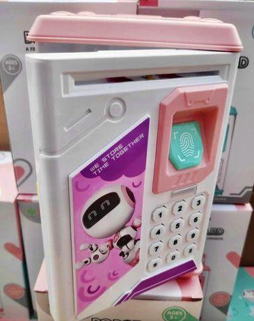 Электронная Копилка сейф с отпечатком пальца и кодовым замком BODYGUAR
