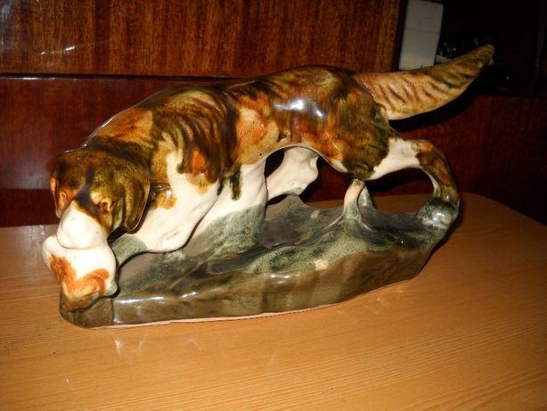 Собака на охоте с дичью Фарфор СССР