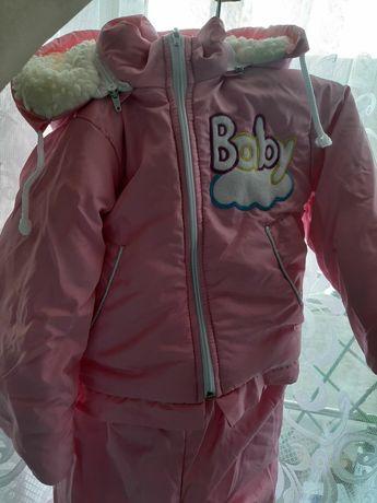 Комбінезон зимовий для дівчинки, 98 розмір