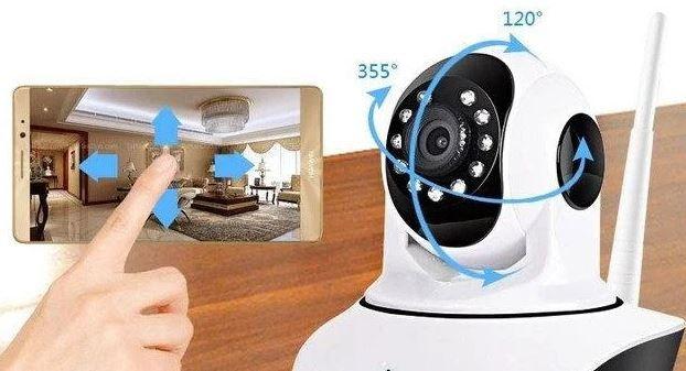 Поворотная камера. відеоспостереження. Відеоняня ip Вай фай Q5  WiFi