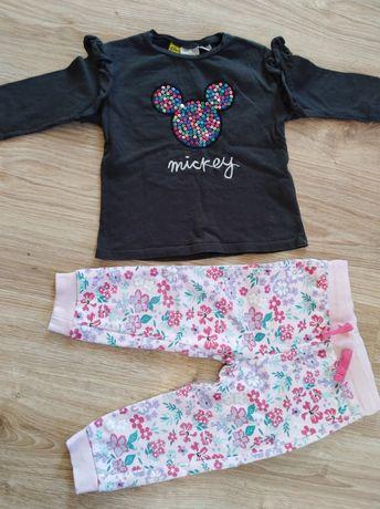 Spodnie dresowe, bluzka 86 dla dziewczynki