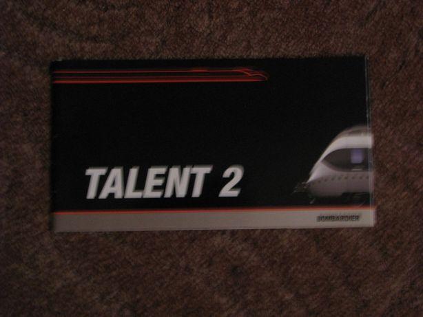 Folder kolejowy Talent 2