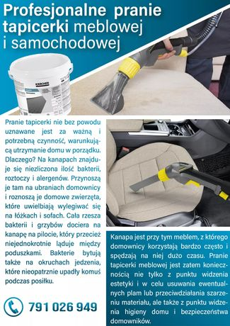 Pranie/czyszczenie tapicerki meblowej i samochodowej