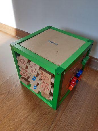 Baby Mix drewniana kostka edukacyjna, sorter