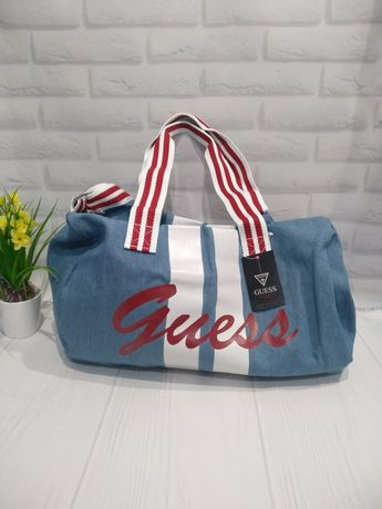Спортивная джинсовая сумка Guess