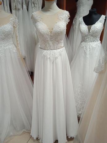 Suknia ślubna używana biała rozm 38-40