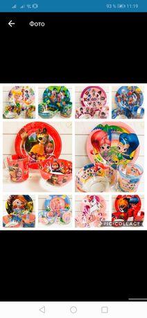 Наборы детской посуды 3 в 1