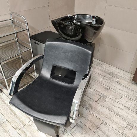 Zestaw fryzjerski Italpro Roma myjnia + 2 fotele