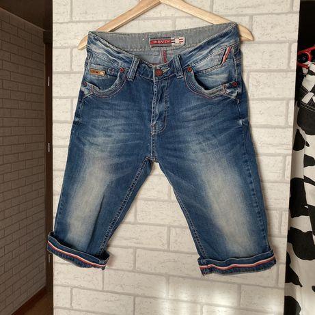 Spodnie spodenki jeansowe jeans szorty na lato ze wstawkami eleganckie