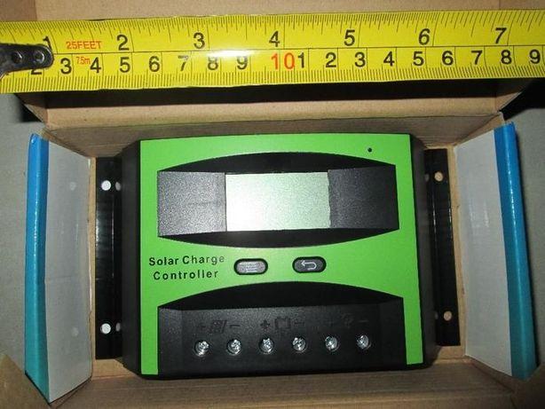 Controlador de Carga Solar 12V 24V 40A com ecrã