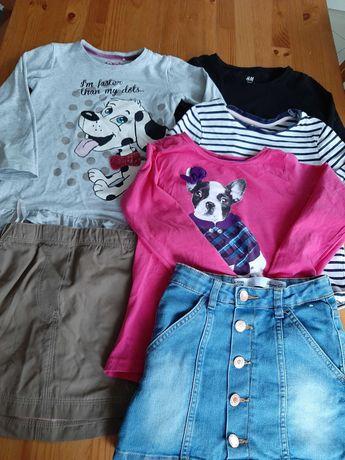 Ubranka dla dziewczynki rozm 110, 4-5lat