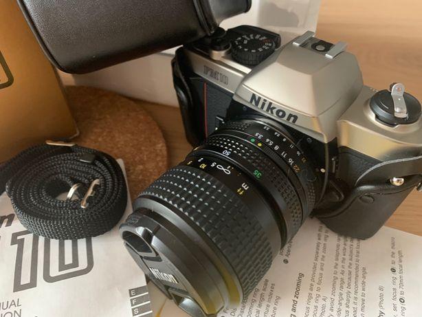NOWA lustrzanka analogowa NIKON FM10 z obiektywem F3 Nikkor/futerał