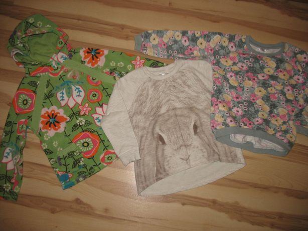 Bluzy dla dziewczynki roz. 104 3 sztuki