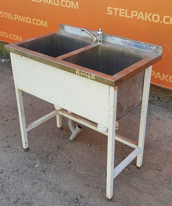 Ванна моечная 2-х секционная на металл. основе, 85х50х85 см, Б/у 63061 Киев - изображение 1