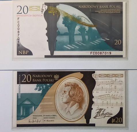Banknoty kolekcjonerskie 200.Rocznica urodzin Fryderyka Chopina Chopin