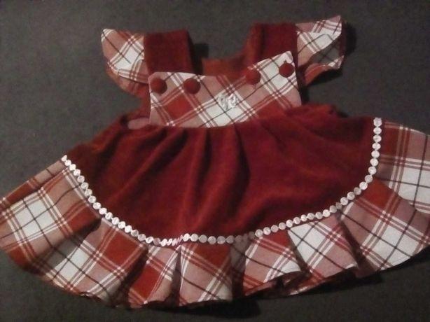 sukienka welur i inny material