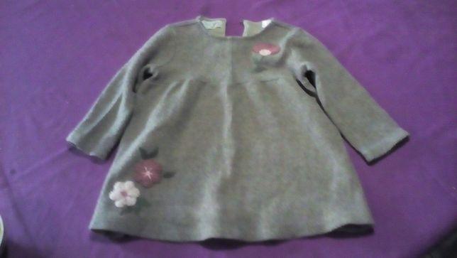 vestido de malha - 2 anos
