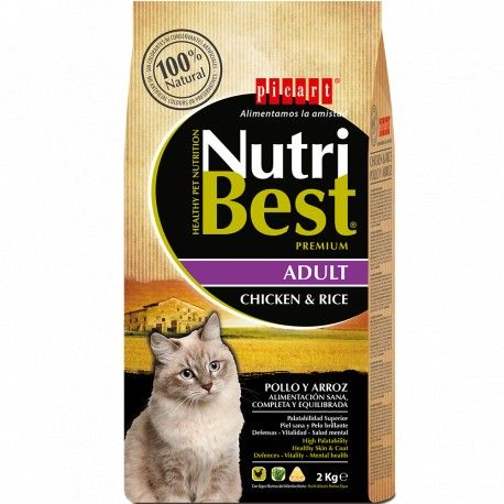 Ração Adult Chicken & Rice Nutribest Premium para Gato Frango e Arroz