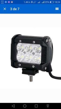 2 projectores LED 18W - Novos