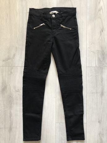 czarne dżinsy dziewczęce h&m 140 nowe