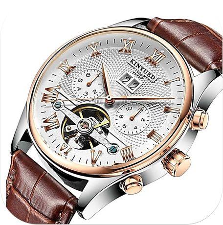 Relógio Mecânico Design Suíço Turbilhão Automático Calendário Perpetuo