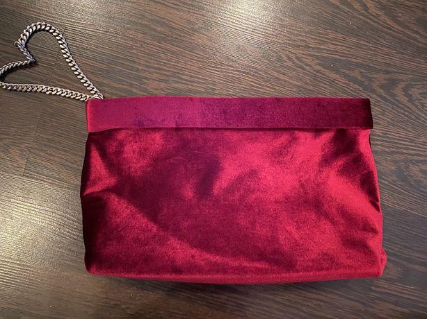Бархатный клатч Zara