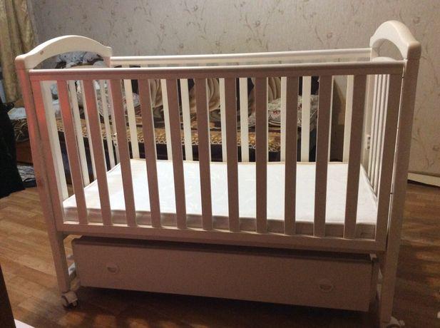Детская кровать-манеж фирмы Верес (Соня ЛД6 с маятником) с ящиком
