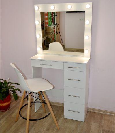 Макияжное зеркало с подсветкой гримерный визажный стол лампы в комплек