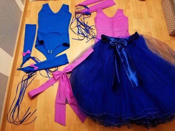 Spódnica, body 2x i dodatki taniec towarzyski STANDARD 158/164