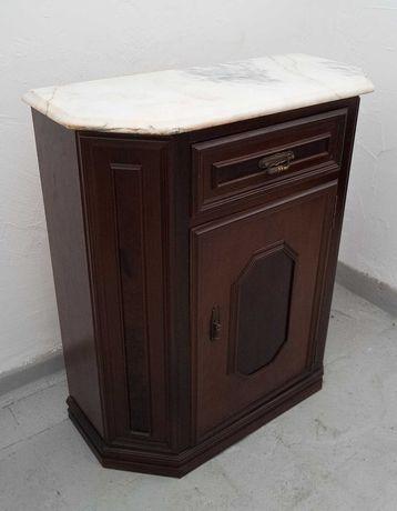 Aparador madeira com marmore 84x75x34cm vintage antiguidade
