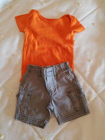 Conjunto calção e tshirt Carters 9 meses