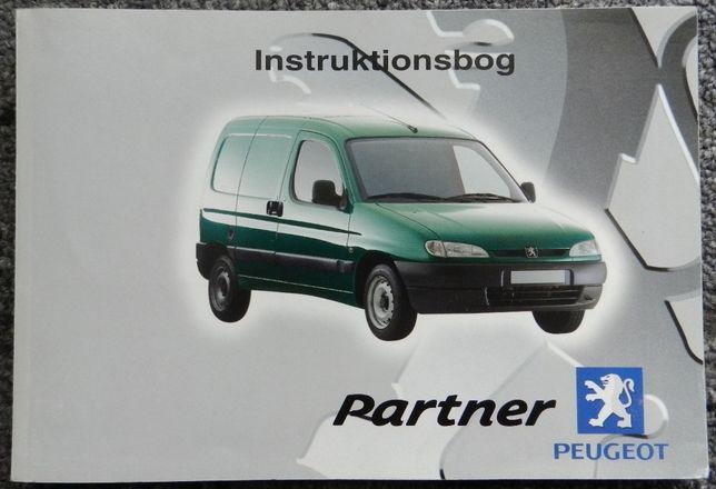 Peugeot Partner - książka instrukcja obsługi w języku duńskim