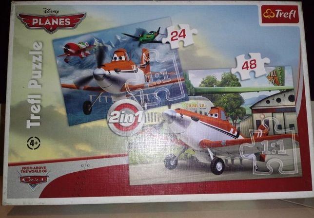 Puzzle TREFL samoloty 2w1 + GRATIS