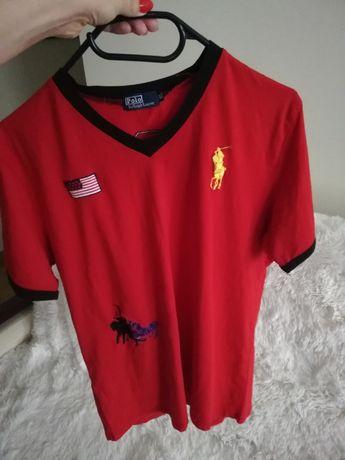 polo by RALPH LAUREN L XL czerwony, koszulka RALPH LAUREN L XL