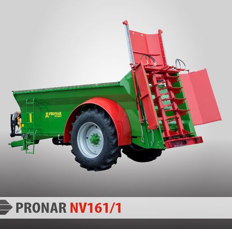 Rozrzutnik obornika skorupowy 6T PRONAR NV161/1 GWARANCJA transport